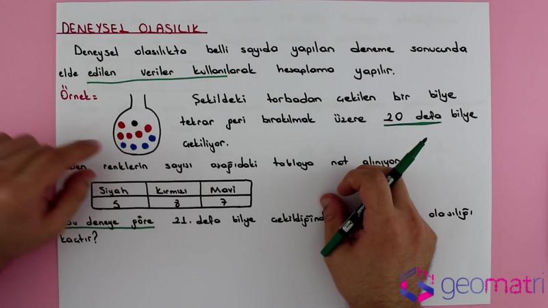 8. Sınıf Olasılık 1 ► Olasılık Çeşitleri (TEOG) - Konu Anlatımı ve Soru Çözümleri