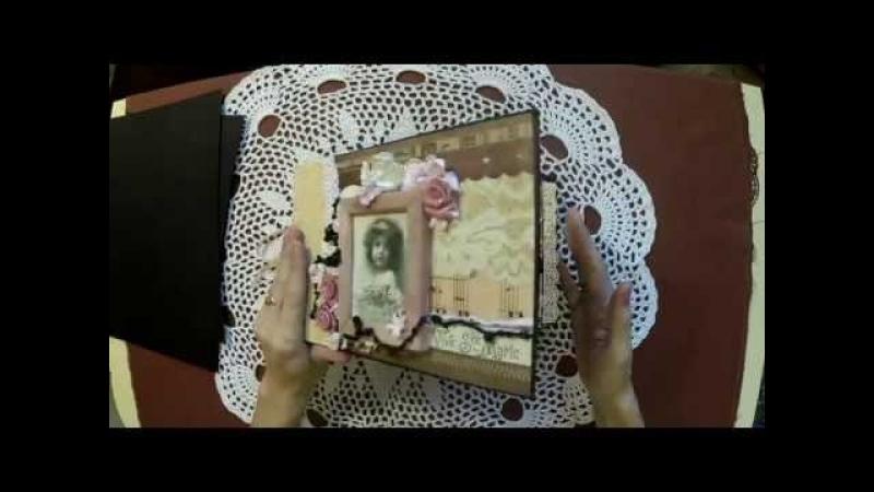 Скрапбукинг: Мастер-класс Винтажный альбом Часть1 /Tutorial Vintage album scrapbooking
