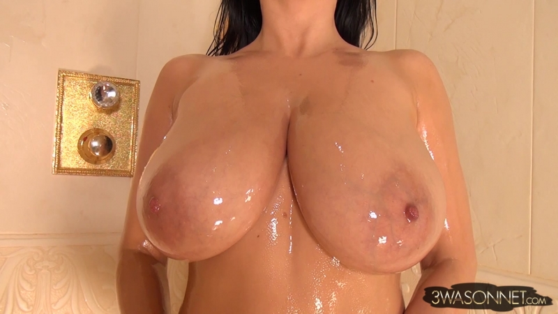 Ewa Sonnet Trapped Wrapped Oiled 2 Solo, Erotic, Big tits, Huge tits, Boobs, Oil, Posing, Brunette, MILF,