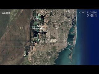 Google Timelapse - Miami, Florida