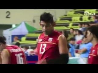 Самый высокий волейболист мира! 2 м 24 см, Wutthichai Suksala!