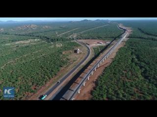 Железная дорога Момбаса -- Найроби, построенная китайскими специалистами