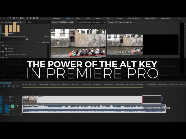 The Power of the Alt Option Key in Premiere Pro