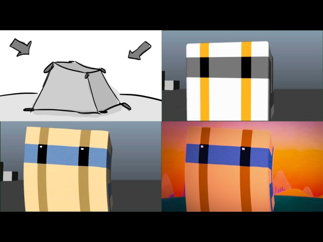 From Storyboard to Final Render (LIFT UP Progression Comparison)