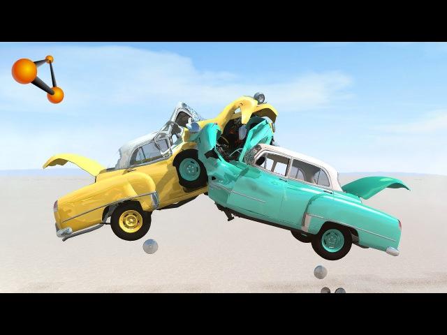 Mid-Air Car Crashes 2 - BeamNG.Drive
