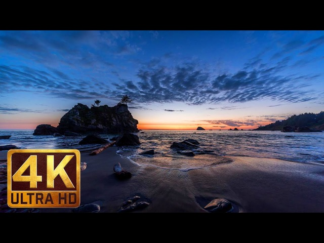 Sounds of the Pacific Ocean | 4K Beach Relax Video with Nature Sounds - 8 Hours Video