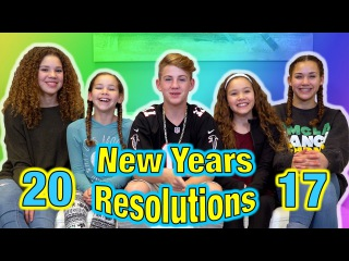 2017 New Years Resolutions! (MattyBRaps vs Haschak Sisters)