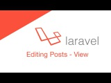 Laravel 5.2 PHP Build a social network - Editing Posts (View)