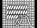 98 Вышивка техники полукрест и гобеленовый стежок