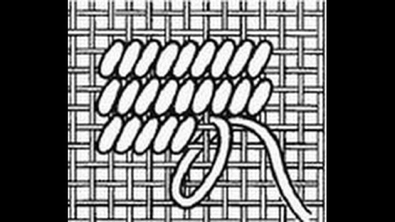 98 Вышивка: техники полукрест и гобеленовый стежок