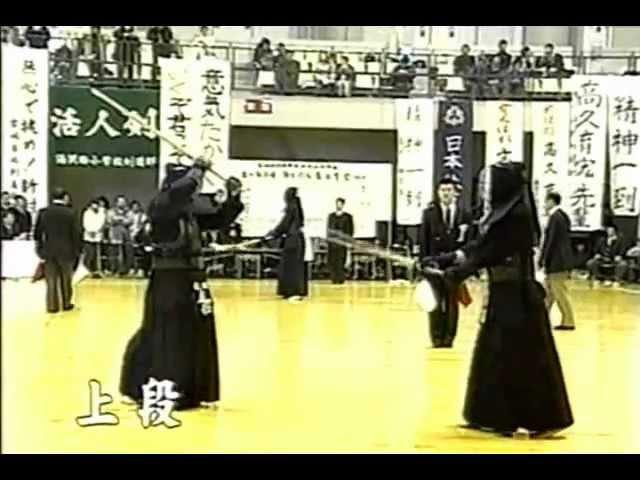 Short jodan kendo body movement study