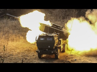 Powerful M142 HIMARS Rocket Launcher in Action - Live Fire Range