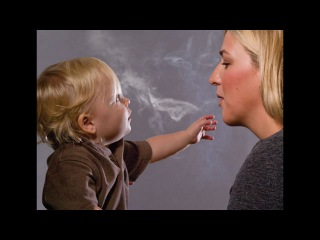 Crazy Mom!! 2016-Teaching Her Two-Year-Old Son How To Smoke
