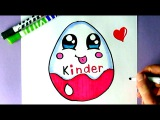 HOW TO DRAW A KAWAII KINDER SURPRISE EGG