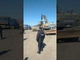Полицейские блокируют въезд на стоянку, Стачка дальнобойщиков Ростовской обл.2