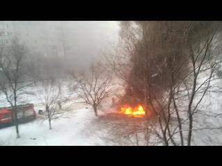 Взрыв машины Луганск 04.02.2017