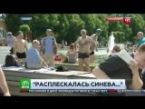 Корреспондента НТВ в Москве избили во время прямого эфира с празднования дня ВДВ.