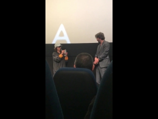 director Ana Lily Amirpour & actor Keanu Reeves following the screening of their new film