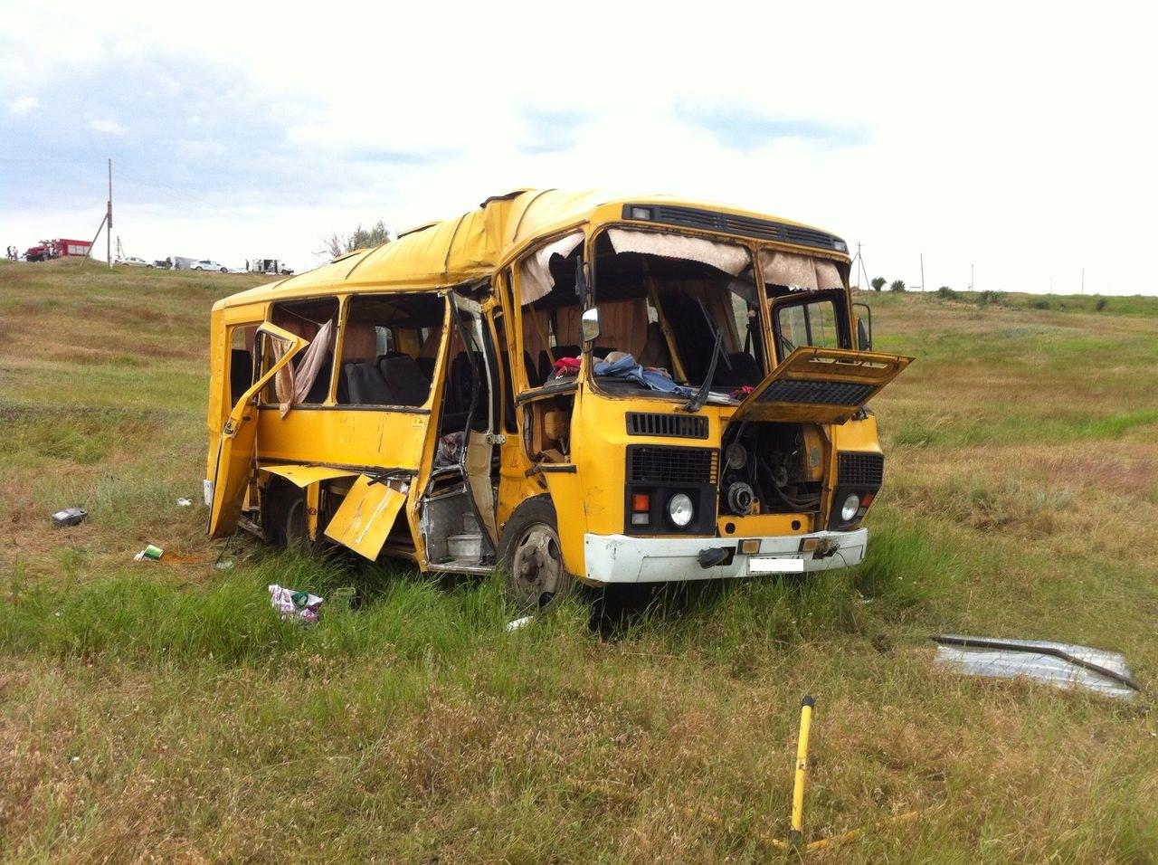 Под Таганрогом столкнулись два автобуса, четверо погибших и 30 пострадавших