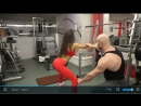Правильная техника выполнения глубоких приседаний плие в стиле борьбы Сумо. /Тренировка для девушек/