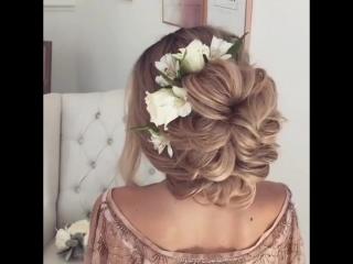 Прическа в романтичном стиле