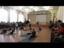Разминка перед выступлением по художественной гимнастике г.Пермь