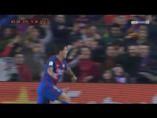 Барселона 1-0 Атлетико  Суарес