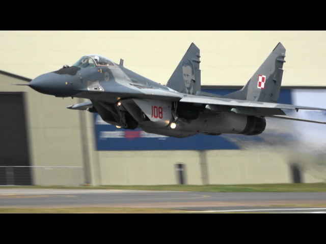 【4K】RIAT 2016 MiG-29A Polish Air Force