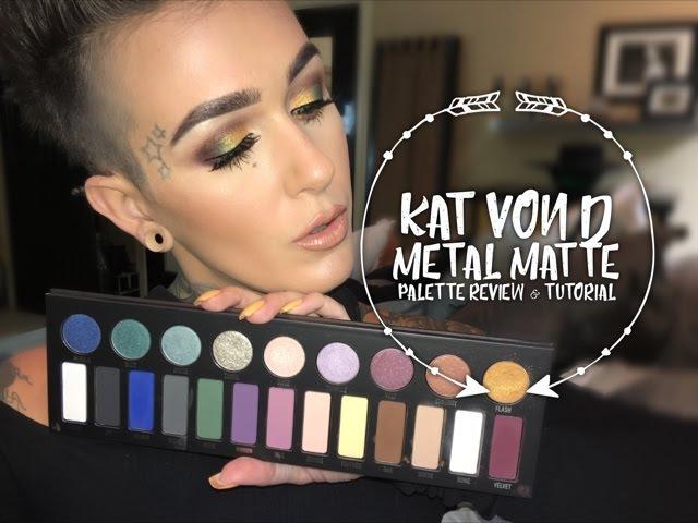 Kat Von D MetalMatte Palette Review and Tutorial