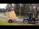Round hay bale mover
