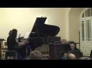 Алиса Песегова Воспоминание '12 для рояля в 4 руки tape electonics и live electronics