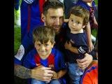 Lionel Messi with his youngest son Mateo/Лионель Месси с младшим сыном Матео