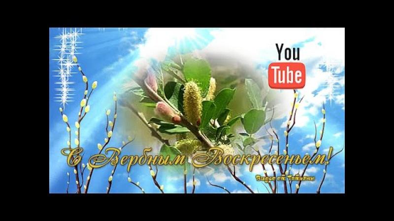 С Вербным Воскресением Красивое поздравление