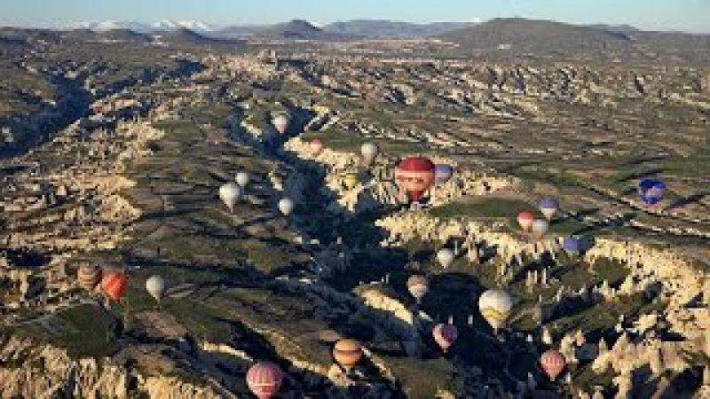 Balloon Flight over Cappadocia, Turkey in 4K (Ultra HD)