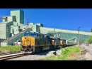 Last Circus Train Passes Huge Coal Tipple Leaving Charleston West Virginia! Blue Circus Train!