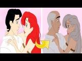 Как выглядели бы герои из мультфильмов Диснея в старости