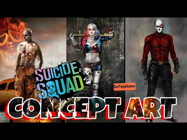 NEW SUICIDE SQUAD MOVIE CONCEPT ART FOR HARLEY QUINN, EL DIABLO, MovieKinky