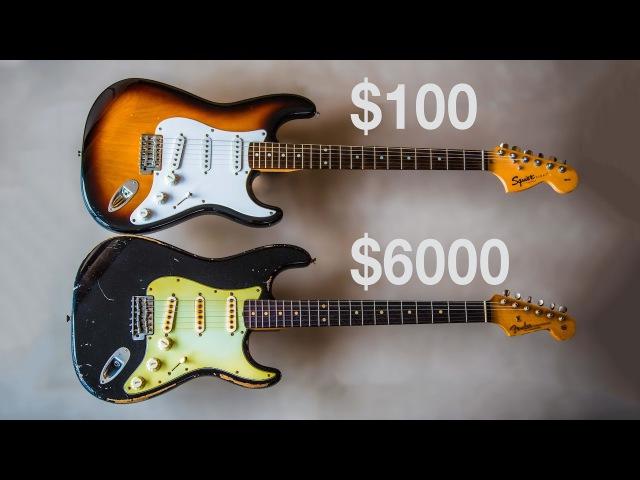 $100 VS $6000 Stratocaster - Squier VS Fender John Cruz Masterbuilt