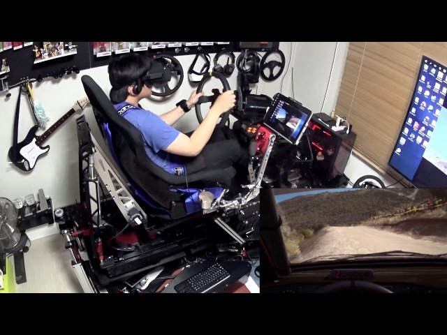 R-craft motion simulator with VR - Dirt Rally play
