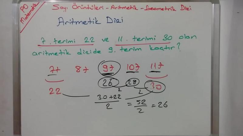 8. Sınıf Örüntüler - Aritmetik Dizi - Geometrik Dizi Konu Anlatımı (TEOG 1)