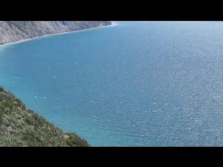 Вид зимой с Лысой горы. г. Анапа, п. Су-Псех. Спуск к морю 800 ступеней