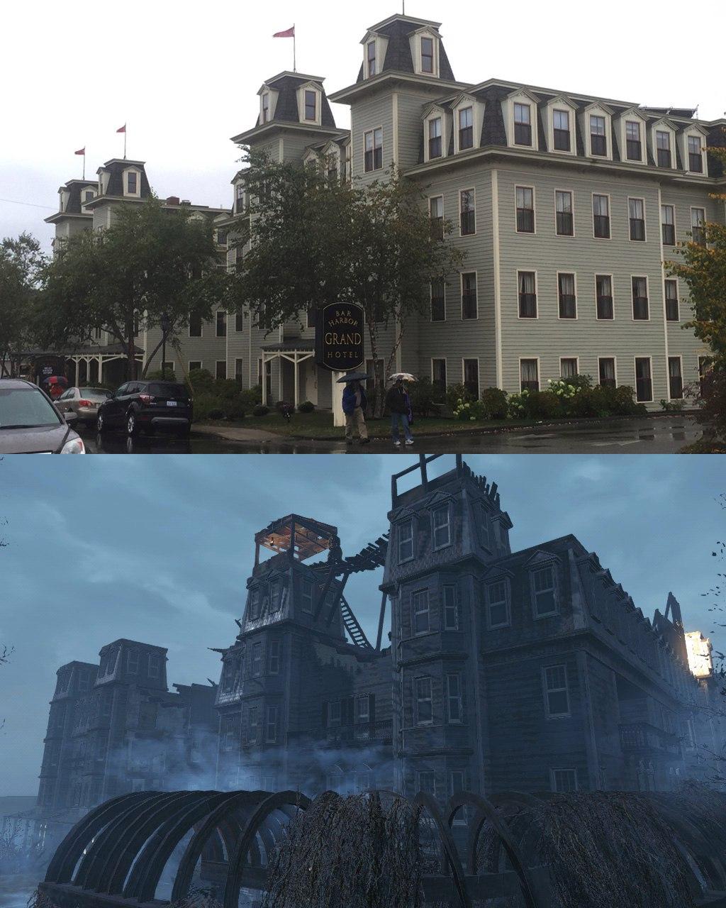 Реальные места Fallout4 в Бостоне