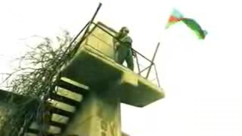 Azerbaycan esgeri ermenilerin bayragini tullayib oz bayragini qoyur.vidio fakt_low.mp4