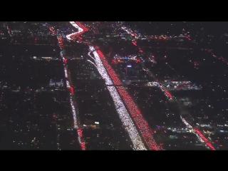Огромная пробка в Лос-Анджелесе