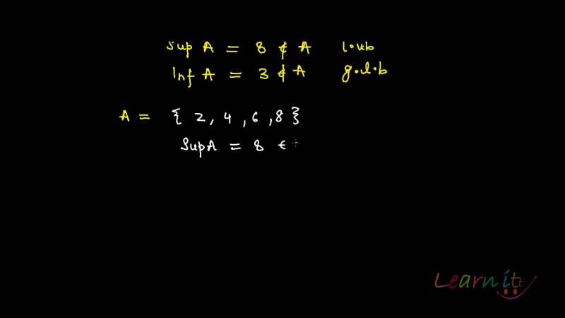 25. Example sup and inf