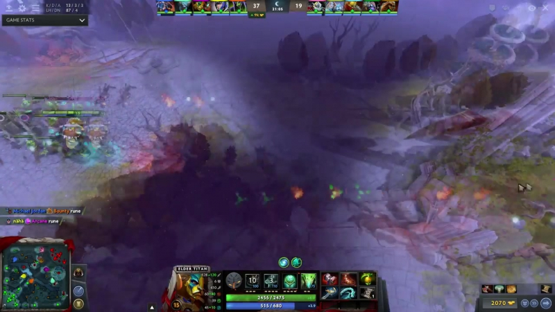 Arteezy Carry Elder Titan with Basher SumaiL zai vs Bulba Clock Dota 2