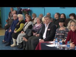 2017 02 22 - Городской смотр знамённых групп. Шк. №3 (Лобня)