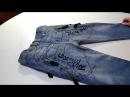 Как сшить детские джинсы из взрослых. How to sew children's jeans from adults.