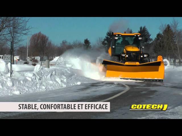 Cotech Grattes à neige sur Harnais à Attache Rapide / Cotech Snow Plows on Quick Attach Subframe