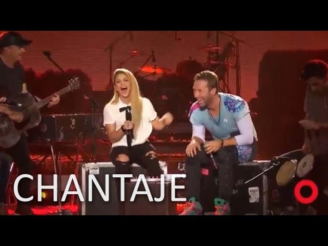 Shakira y Coldplay Chantaje FULL en Vivo Global Citizen
